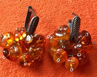 Amber earings