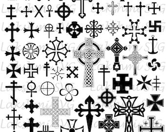 Crosses Svg, Cross Svg, Cross Cut files, files for Cricut, silhouette CROSSES , Religion svg,Vector Files,png,dxf