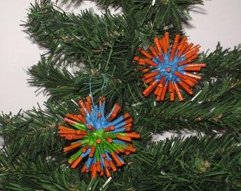 "2 pieces-Christmas ball ""ball with Stickies"" handmade"