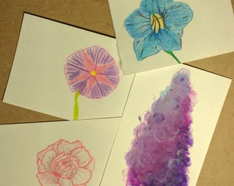 Personalized Flower Drawings