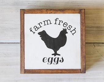 Farm Fresh Eggs Sign, Handmade Wooden Sign