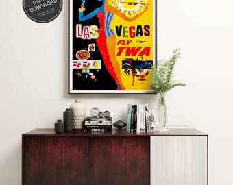 Retro Wall Art las vegas wall art | etsy