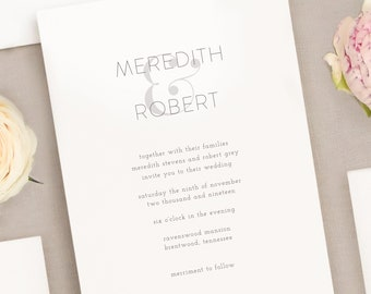 Wedding Invitation Suite - Ampersand