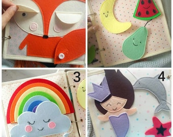 Quiet Book Toddler  -  Quiet Book - Busy Book - Activity Book - First Book - Educational Games - Felt Quiet Book - Quiet Book Pages