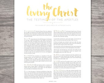 LDS The Living Christ Printable-Choose your Sizes-Digital Files