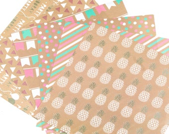 Set of 6 washi tape sheets