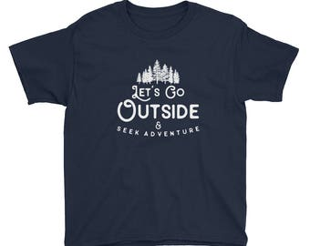 Kids Go Outside - Youth Short Sleeve T-Shirt, boy shirt, girl shirt, kids gift