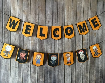 Halloween Decor, Halloween Banner, Horror Banner