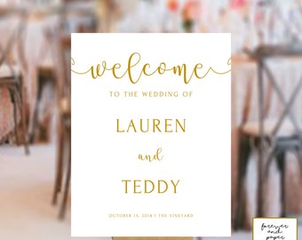 Gold wedding decor etsy gold wedding decor wedding decorations gold elegant wedding signs wedding reception signs junglespirit Image collections