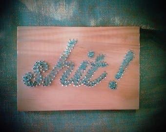 Four Letter Word String Art