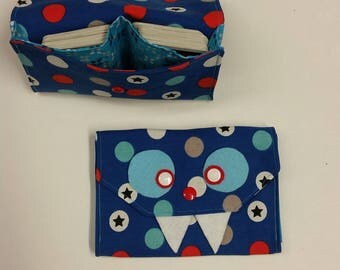 Card case, card monster, storage for playing cards, gift for children,