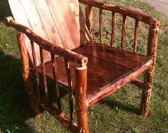 Rustic Oversized Handmade Cedar Chair-Local pick-up only