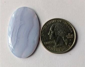 34.25 x 20.70 mm,Ovel  Shape Blue Lace Agate Cabochon/Attractive Blue Lace Agate/wire wrap stone//Pendant Cabochon/SemiPrecious Gemstone