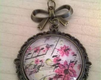 Pendant cabochon 25mm cabochon necklace