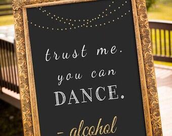 Dance Wedding Decor Sign