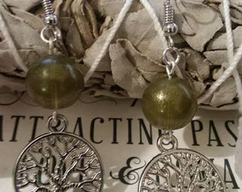 Tree of Life  Earrings w/your choice of color beads