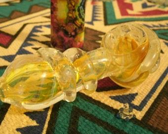 Yellow Glass Pipe