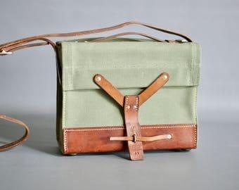1965 SWISS ARMY Ammo Bag, Vintage Swiss Army Bag, Vintage Swiss Military Shoulder Bag, Swiss Military Ammo Bag, Swiss Army iPad Messenger