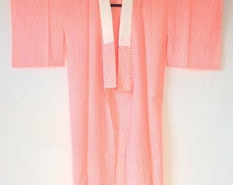 Japanese Vintage Red Asanoha Juban Kimono L182
