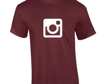 T-Shirt Instagram Social Media Photo-Sharing App Custom Shirt & Ink Color