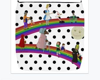 White & Black Polka Dot Fairy Tale (Everyday Use) Premium Tote Bag