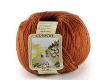 Fine merino yarn terracotta 200 meters/219 yards 50 grams/1.76 Oz