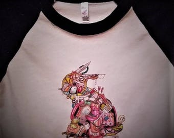 T-SHIRT: Rabbit - Art by bowlingART