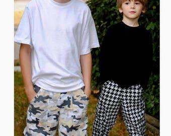 Patterns Boys, Boys Sewing Patterns, Cargo Pant Pattern, Fishsticks Designs, Pattern Sew Child, Children's Patterns, Big Kid Sizes 5 to 12