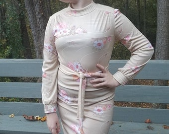 1970s Flower Dress made by Andrea Gayle