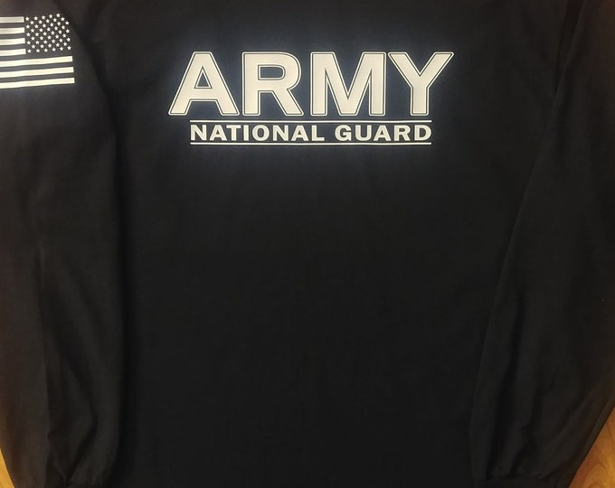 Army - National Guard - Mens Army Shirt - Womens Army Shirt - Long Sleeve - Army Veteran - Army Wife - National Guard Shirt - US Army Shirt