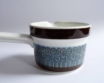 Rorstrand AMANDA Pottery Casserole Sauce Bowl Designed by Christina Campbell Sweden Scandinavian Mid Century Design 70's