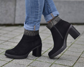 Womens Ankle Boots, Womens Leather Boots, Loow Boots, Black Boots, Booties, Boho Style