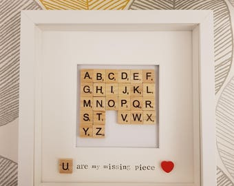 U Are My Missing Piece Frame