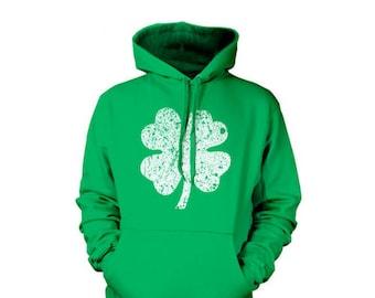 Shamrock Clover Irish Lucky St Patricks Day Ireland Hoodie Pullover Sweatshirt