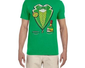 Kiss me I'm Irish St Patricks Day Tuxedo high quality T-shirt