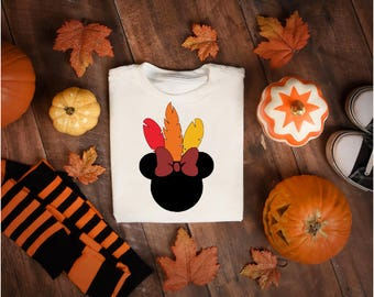 Minnie Turkey Thanksgiving shirt, Thanksgiving shirts, adult or kids Thanksgiving shirt