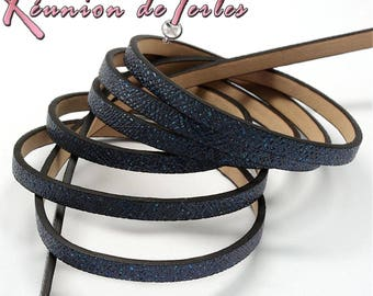 midnight 1.2 metres of faux blue leather cord, 5 x 2 mm