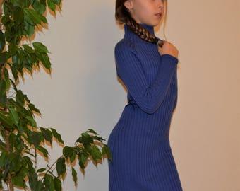 Knitted dress of merino wool