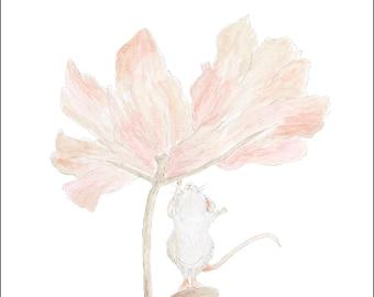 Field Mouse & Friend   Sketch/Watercolour print.