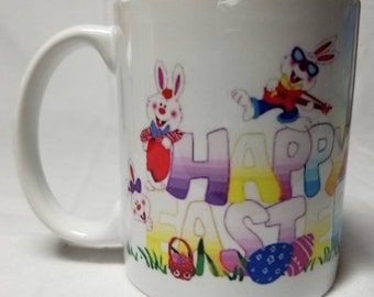 Happy Easter Ceramic Mugs/Latte Mugs, Coffee, Tea, Hot Chocolate
