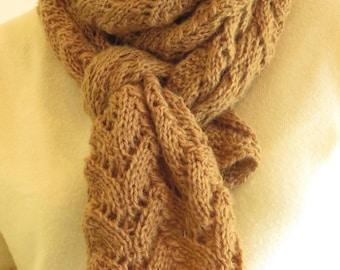 Lace scarf, knit stitch