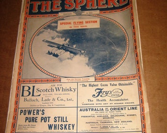 The Sphere magazine back issue dated 1917   [c4885o]