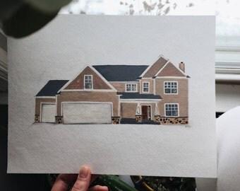 Custom Watercolor House