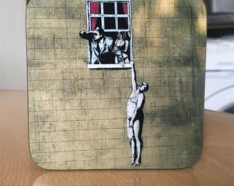 Banksy Coaster #60 - Banksy Gift - Banksy Coaster - Custom Coaster -Gift for Her - Gift For Him - Fridge Magnets - Banksy Magnet - Souvenir