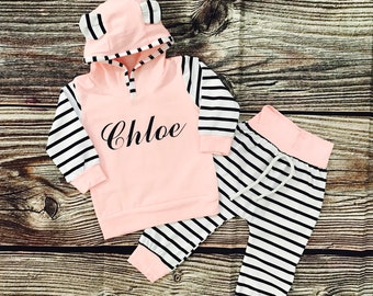 Baby Girl Coming Home Outfit, Personalized Newborn Girl Outfit, Baby Girl Coming Home Outfit Winter, Personalized Newborn Outfit Winter