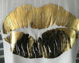 Gold Foil Lips