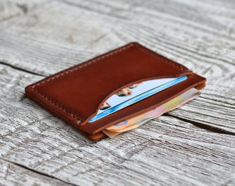 Leather Wallet Minimalist Wallet Mens Wallet Slim Wallet Credit Card Wallet Front Pocket Gift for him Groomsmen gift slim Gift for father