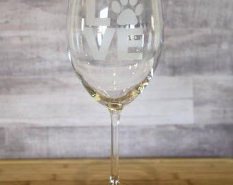 Custom Etched Wine Glasses