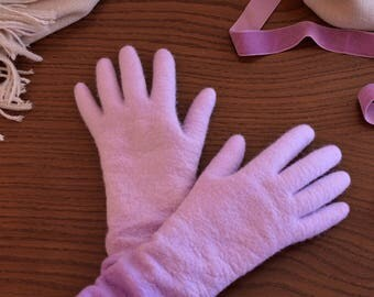 READY TO SHIP !!! Felted long gloves, Felted mittens, Wool gloves, Women gloves, Fall accessories, Winter gift, Merino mittens, Arm warmers