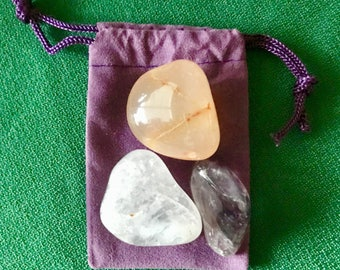 Relaxation and Awareness ~ 3 Stone *Charged Crystal* Kit